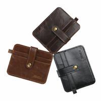 HOT Men's Leather Magic Money Clip Slim Wallet ID Credit Card P Holder Case I8P4