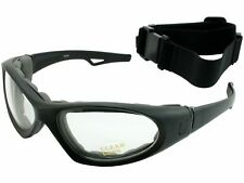 Sungoggle Convertible Clear Lens Motorcycle ATV Goggles Sunglasses