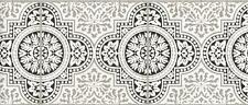 Wallpaper Border Moroccan Marrakech Mediterranean Faux Tiles Black White Gray