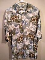 Campia Moda Mens Short Sleeve Hawaiian Shirt Size Large 100% Rayon