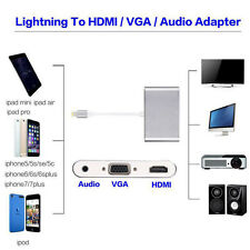 Flash to AV HDMI TV VGA Audio Video Cable Adapter for Iphone 5 6 6S 7 7 plus Top