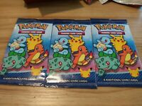 MCDONALD'S 2021 POKEMON 25TH ANNIVERSARY - SET OF 3 SEALED PACKS - ON HAND