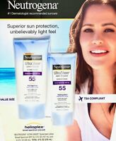 Neutrogena Ultra Sheer Sunscreen Lotion SPF 55 Broad Spectrum, 8 Ounces 11/2020