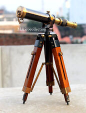 Vintage Brass Telescope With Tripod Antique Design Nautical Decor