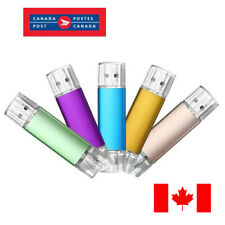 32GB USB 2.0 Flash Drive OTG Dual Port Memory Stick For Android Smart Phone