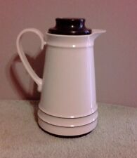 Vintage Almond & Brown Thermal Carafe By Thermos Great Hardly Used Shape!