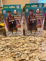 2019-2020 Panini Mosaic NBA Basketball Hanger Box Orange Prizms Sealed LOT OF 2