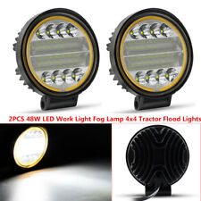 2X 48W LED Work Light Fog Lamp Marine Off-Road 4x4 Tractor Flood Lights 12V 24V
