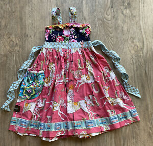 Matilda Jane Platinum All the Pretty Horses Yama Dress Size 6
