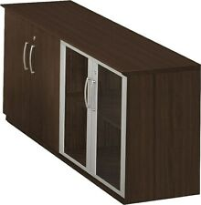 Safco Low Wall Storage Cabinet With Door, Mocha, 29 1/2H x 72W x 20D Mvlcldc