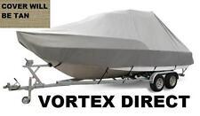 NEW VORTEX TAN/BEIGE 20' T-TOP CENTER CONSOLE BOAT COVER