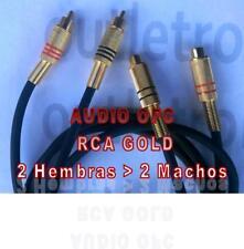 CABLE PROLONGADOR AUDIO 2 RCA HEMBRA -2 RCA MACHO OFC,  en 1, 3, 5 y 9 M.
