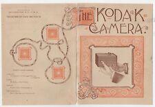 Rare 1890 Color Kodak Camera Advertising Brochure