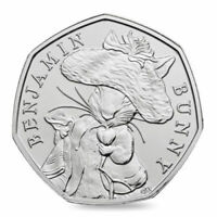 Beatrix Potter Benjamin Bunny 50p Coin Bright Uncirculated Rare 2017 Coin