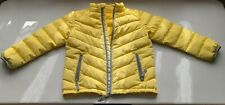 Hanna Andersson Down Sweater Jacket Coat Size 120 Yellow FLAWs