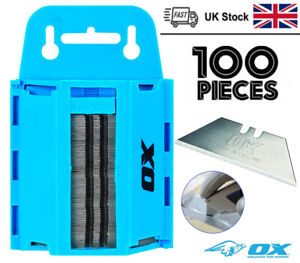 Pack Of 100 Blades For Stanly Knifes In Dispenser Case Safe Carry Box FAST&FREE