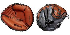 "Wilson 2019 A500 Baseball 32"" JUNIOR Leather Catcher's Mitt, Ages 10-13, RHT"