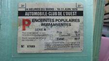 Signed Autographed Vintage 1978 Ticket Dick Babour Porsche Le Mans 24