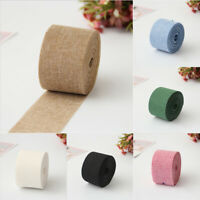 10 Meters Natural Burlap Jute Hessian Ribbon Roll Garland Wedding Decor 5cm Wide