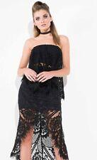Mossman Enchantress Black Lace Top, Womens Formal Tops, Black Lace Top, Size 10