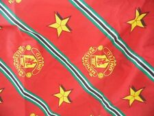 "MANCHESTER UNITED COTTON CURTAINS GOOD COND PENCIL PLEAT 54"" DROP, 66"" WIDE"