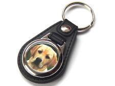 LABRADOR RETRIEVER GOLDEN Dog Puppy Quality Leather and Chrome Keyring