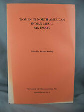 Woman in North American Indian Music Six Essays Richard Keeling 1989 Native Book