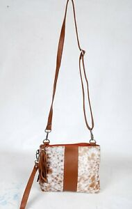 Real Cowhide Cross body Purse Handbag & Shoulder Bag Clutch Cow Leather SB-6953