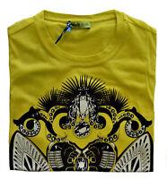 Maglia MagliettaT-Shirt Girocollo VERSACE JEANS Giallo Yellow T-Shirt Crew Neck