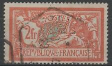 "FRANCE STAMP TIMBRE N° 145 c "" MERSON 2F CASSURE ECUSSON "" OBLITERE SIGNE  M472"