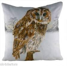 "43cm 17"" OWL Snow Scene Cushion - Evans Lichfield DP918 - New for XMAS"