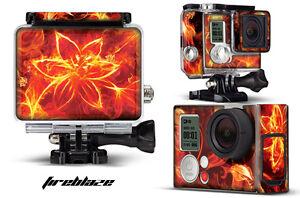 Skin Stickers for GoPro Hero 3+ Camera & Case Decal HERO3+ Go Pro FIREBLAZE