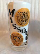 Vtg 3 University of Missouri 1966 Football  Schedule Glass Tumbler Mizzou Tiger