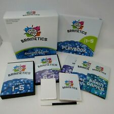 Brainetics Math & Memory System DVDs 1-7 Playbook Manual Flashcards Home +More