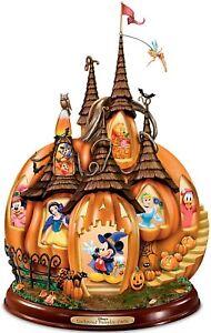 Bradford Exchange Disney's Enchanted Pumpkin Castle Illuminated Halloween Sculpt