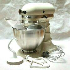 Vintage Hobart KitchenAid KS45SS Ivory Tilt Head Mixer with Bowl Cover 3 Blades