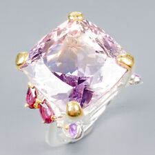 Vintage21ct+ Natural Ametrine 925 Sterling Silver Ring Size 7.5/R119761
