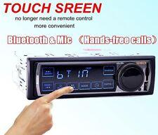 Radio Coche Bluetooth 12V USB/FM Estéreo MP3 Reproductor 1 DIN Pantalla Táctil