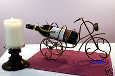 Dekorativer Weinständer Fahrad, Weinflaschenhalter, Flaschenständer aus Metall