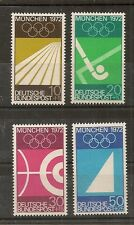 STAMP / TIMBRE ALLEMAGNE GERMANY SERIE N° 450 A 453 ** JEUX OLYMPIQUES DE MUNICH
