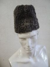 REFURBISHED NEW GRAY GREY PERSIAN LAMB FUR HAT MEN MAN SIZE 22""