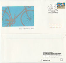 Stamp Australia 1990 Cycling 41c peel & stick official FDC, gum trial issue