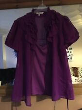 Debenhams Collection Purple Blouse With Camisole Size 12