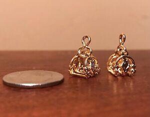 Little Bit / Paddock Pals 1:24 Scale Model Horse FILIGREE ARABIAN STIRRUPS Gold