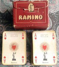 2 Mazzi VANNINI CARTE DA GIOCO RAMINO Bolllo Fiscale Agosto 1960 Lire 500 Jolly