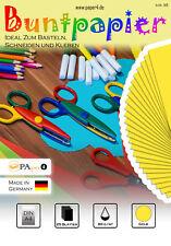 Buntpapier Bastelpapier DIN A4 25 Blatt 80 g/m²  Gelb #1105