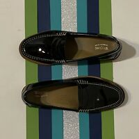 Bass Weejuns Whitney Beefroll Penny Loafer Black Patent Size 6 1/2 $110
