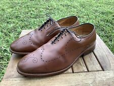 Allen Edmonds Fairfax Leather Shoes 9.5 EEE Perforated Chili Brown