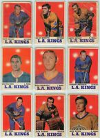 1970-71 O-Pee-Chee Los Angeles Kings 9 Card Team Set P to EX (031220)