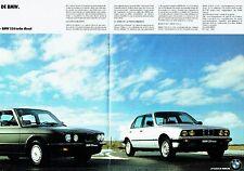 PUBLICITE ADVERTISING 037  1986  BMW (2p) poster) les  324 & 524 diesel